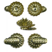 10 Gold Classic Pine Cone Candle Clips ~ Made in Germany