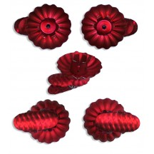 10 Matte Red Classic Pine Cone Candle Clips ~ Made in Germany
