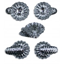 10 Silver Classic Pine Cone Candle Clips ~ Made in Germany
