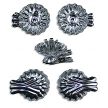 10 Silver Fluted Shell Candle Clips ~ Made in Germany