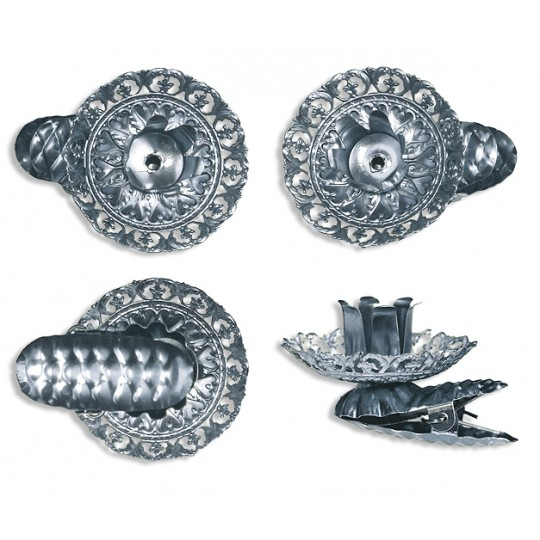 8 Fancy Silver Filigree Candle Clips ~ Made in Germany