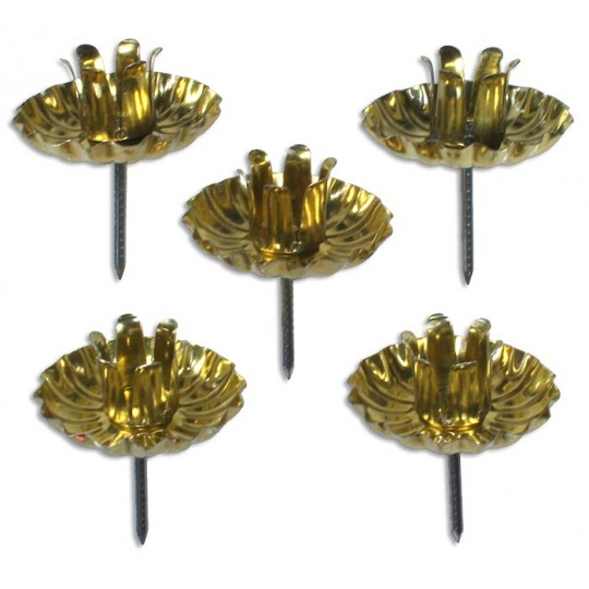 10 Gold Advent Wreath Candle Holders ~ Made in Germany
