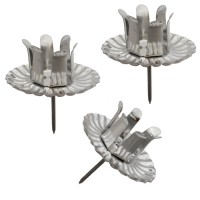 8 Large Silver Advent Wreath Candle Holders ~ Made in Germany