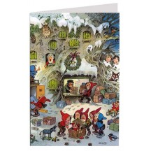 Gnome Post Office Advent Calendar Card ~ Germany