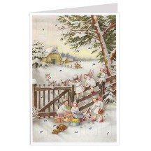Angels at the Fence Advent Calendar Card ~ Germany ~ New for 2013