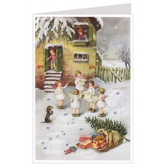 Caroling Angels Advent Calendar Card ~ Germany ~ New for 2013