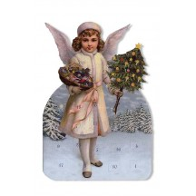 Snow Angel with Tree Advent Calendar Card ~ Germany
