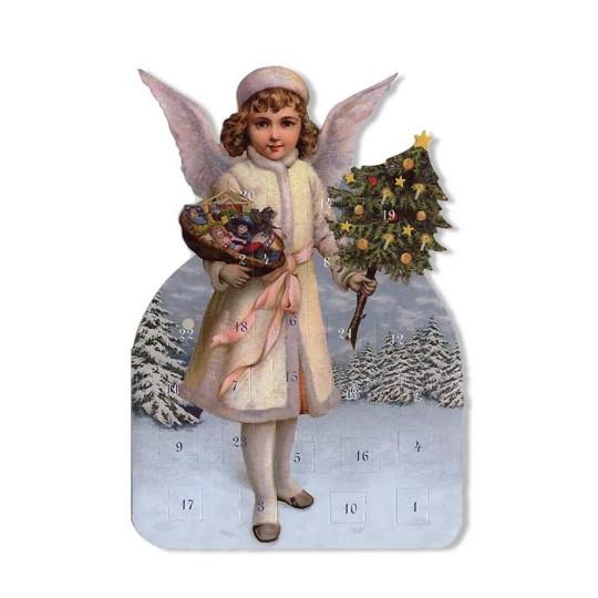 Snow Angel with Tree Advent Calendar Card ~ Germany