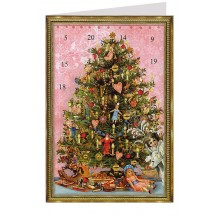 Traditional Christmas Tree Advent Calendar Card ~ Germany
