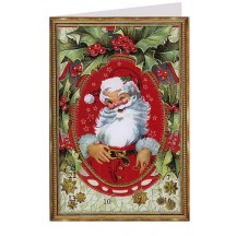 Jolly Santa Advent Calendar Card ~ Germany