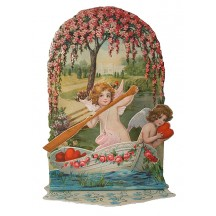 Angel Boat Pulldown Valentine Card