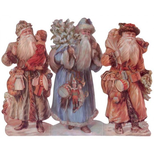 Large Victorian Santa Standing 3-D Card