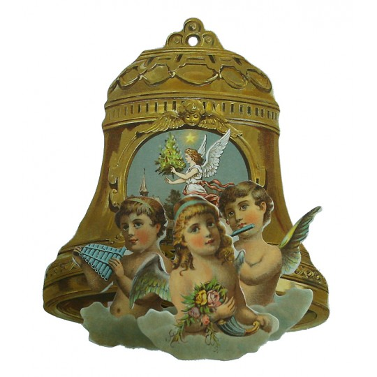 3D Pullout Angels Bell Christmas Card