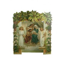 3D Standing Nativity Scene Christmas Card