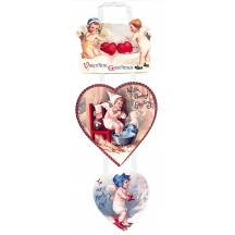 Victorian Angels Hanging Valentine Card