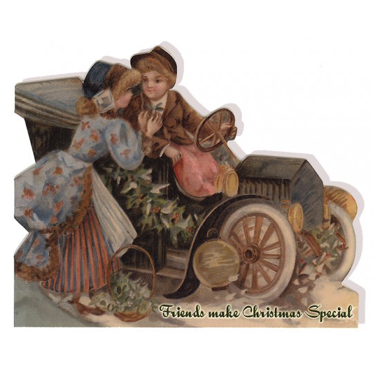 Friends Make Christmas Special Victorian Auto Card