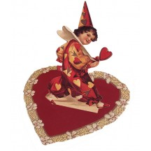 Red and Yellow Valentine Clown Easel Card