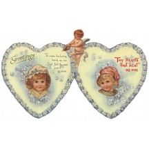 Two Hearts Beat as One Folding Valentine Card