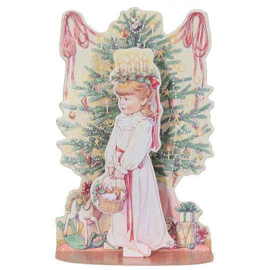 St. Lucia Pull Down Christmas Card ~ Style B