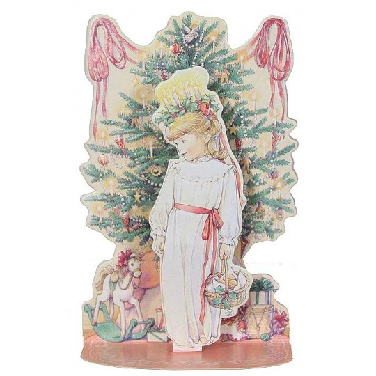 St. Lucia Pull Down Christmas Card ~ Style C