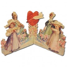 With Love and Devotion Standing 3-D Valentine Card