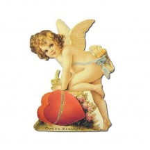 Petite Cupid with Heart Easel Card