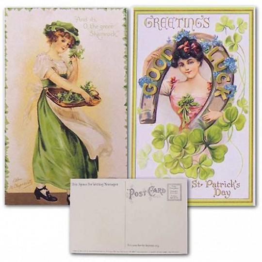 Pair of Pretty St. Patrick's Day Postcards