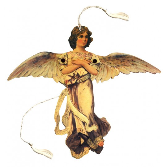 Golden Angel Jumping Jack Card or Ornament for Christmas