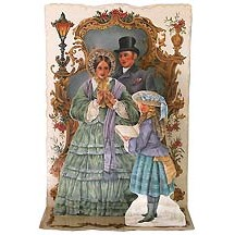 Pop-up Dickensian Carolers Christmas Card ~ England