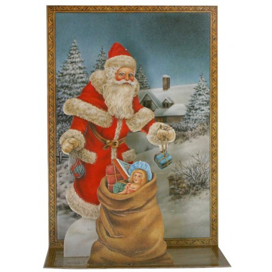 Pop-up Santa with Toys Christmas Card ~ England
