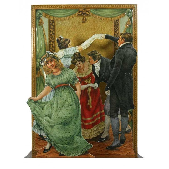 Pop-up Victorian Dance Christmas Card ~ England