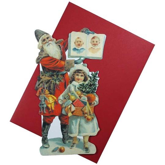 Naughty or Nice Santa Christmas Card ~ England