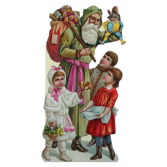 Victorian Toy Delivery Christmas Card ~ England