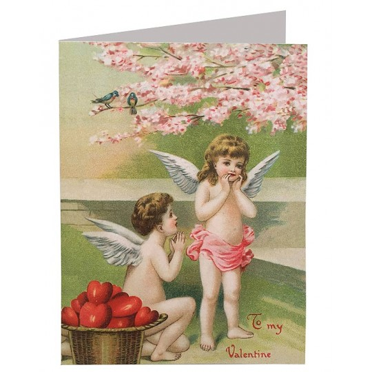 Cherubs and Hearts Valentine Card