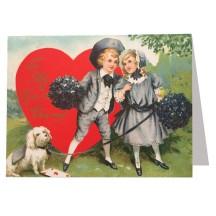 Victorian Couple Valentine Card