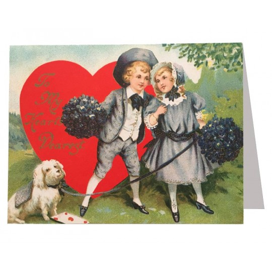 Victorian Couple Valentine Card