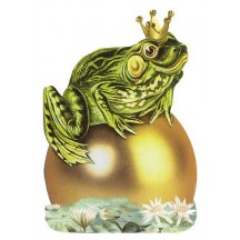 Die Cut Frog Prince Card ~ Germany