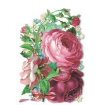 Rose Bouquet Die-Cut Easter Card ~ Germany