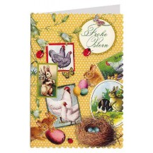 Yellow Easter Collage Card ~ Germany