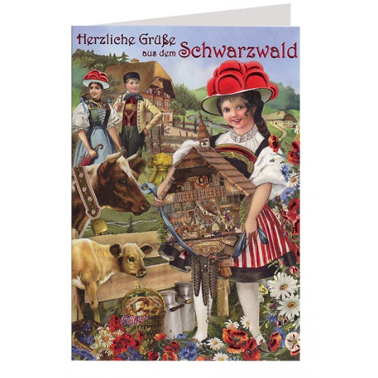 Bavarian Greetings from the Black Forest Card ~ Germany