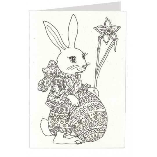 DIY Bunny with Egg Easter Card ~ Germany