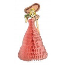 Vintage Flower Girl Honeycomb Decoration