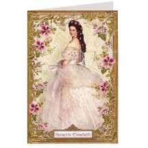 Empress Elizabeth with Geraniums Card ~ Germany