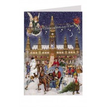 Merry Christmas from Vienna Glittered Christmas Card ~ Germany