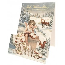 Angel with Christmas Cookies Pop Up Christmas Card ~ Germany