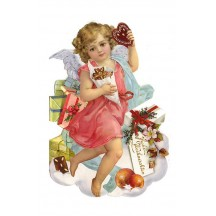 Angel with Sweets Christmas Card ~ Germany