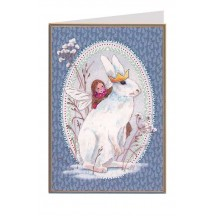 Blue Fairy and Bunny Christmas Card ~ Germany