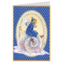 Blue Fairy and Snail Christmas Card ~ Germany