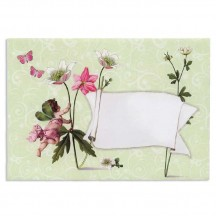 Angel and Flowers Decorative Envelope & Card ~ Germany