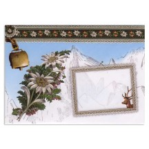 Edelweiss & Reindeer Decorative Envelope & Card ~ Germany